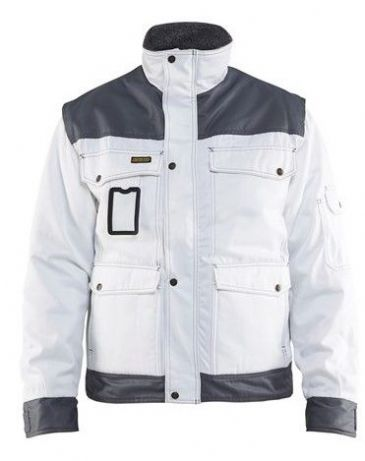 Blaklader 4865 Painter Lined Jacket (White/Grey)